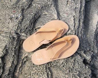 Greek Leather sandals - Unisex greek sandals, authentic leather handmade sandals, stylish sandals - Astraia