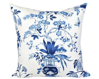 READY TO SHIP - 18x18 Ming Vase Porcelain designer pillow cover - Schumacher