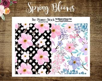 Spring Blooms Dashboards 2 | Printable Dashboards | A6 tn| B6 tn | Pocket tn | Personal tn | Standard tn | Travelers Notebook | Printable