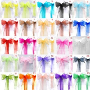 chair cover bows. 150 Organza Sash Chair Cover Bows For Wedding Party High Quality 17cm X 280cm