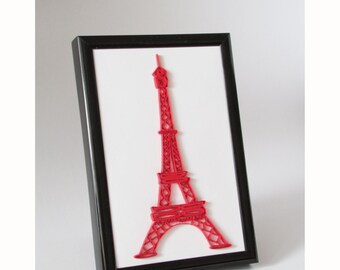 The Eiffel Tower Quilling, Quilled Eiffel Tower Picture, Paris Wall Art, Paper Quilling Wall Hanging