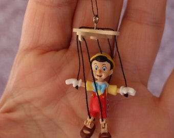 Miniature dollhouse marionette toy Pinocchio puppet 1:12 scale , Jointed Knees Adorable ! Tiny marionette Puppet CUTE