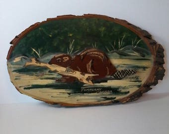 Souvenier Plaque from Temagami