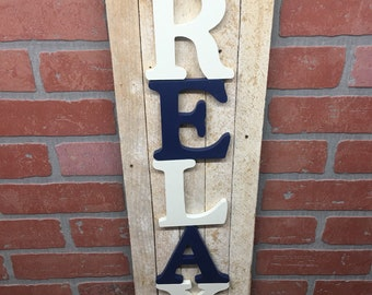 Rustic Relax, sign made from reclaimed wood