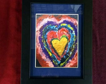 Framed Mullti-Coloured Heart Print (tax included)