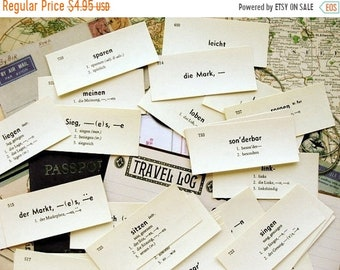 ONSALE One Dozen Vintage German Flash Cards