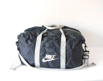 Vintage Black Nike Duffel Bag / ITEM432