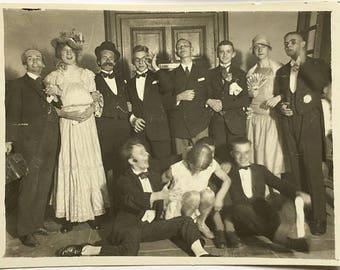 "Vintage Photo ""The Theatrical Men"" Snapshot Antique Black & White Photograph Paper Found Ephemera Vernacular Interior Design Mood - 40"