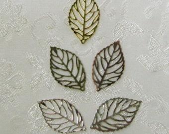 Feuille filigrane Mix vous choisissez terminer 15 mm x 28 mm filigrane feuilles 532
