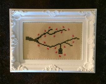 Cross Stitch Frame - 'Birdcage'