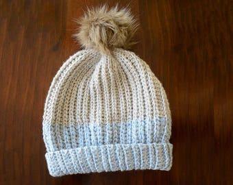 Crochet hat pattern - Color Block Beanie