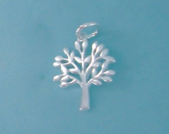 Sterling Silver Tree Charm / Pendant, Tree of Life, Family