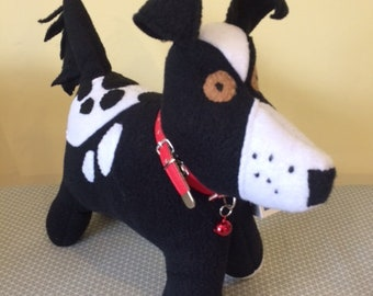 Toy dog, Black and White Border Collie