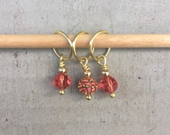 Just Peachy Stitch Marker Set