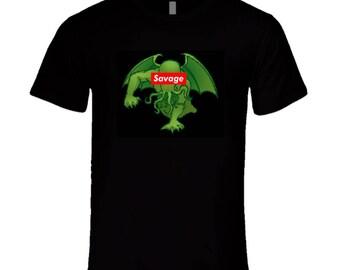 Savage Cthulhu T Shirt