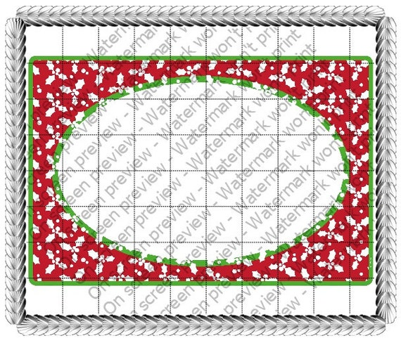 Christmas Holly - Edible Cake and Cupcake Photo Frame For Birthdays and Parties! - D21054