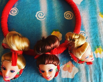 Necklace with three BARBIE.