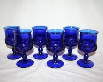 Cobalt Blue Stemware (6)