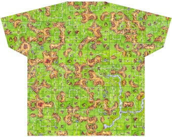Carcassonne All-Over-Print Map Shirt