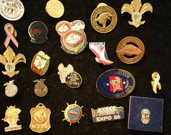 Vintage and Enamel Pins - Mixed lot