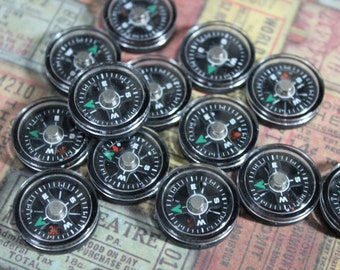 Miniature Black Compasses