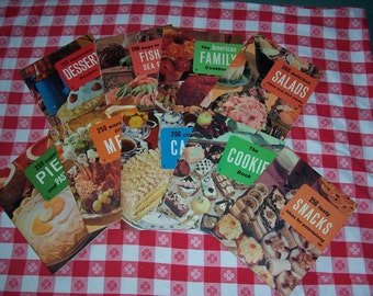 Culinary Arts Institute Cookbooks..1971 Editions..Set of 9..Recipes For Salads..Cakes..Pies....Fascinating Desserts..Great Condition..