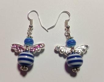 "Earrings ""Candy-Angels Blue 1"""