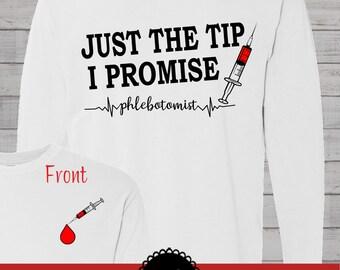 Phlebotomist Phlebotomy Laboratory Technician Monogrammed Customized Shirt Personalized Comfort Colors