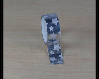 Washi tape 15mm x 3 m silver dot