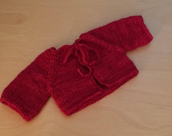Waldorf Doll Knit Sweater for 15/16 Inch Waldorf Doll  **Ravelry Red**