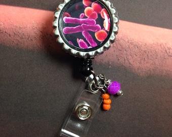 Badge Reel E. Coli design Laboratory Lab Week gift
