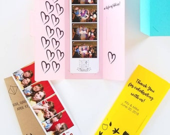 Wedding Photo Booth Folder - Customized For Your Event - Name And Color