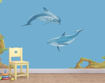 Dolphin Wall Decal, Dolphin wall stickers, dolphin decal, sea life decals, sea life wall stickers, dolphins, sea life wall decals,