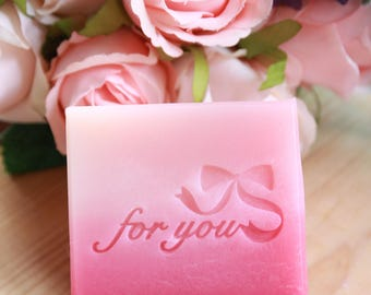 Ashuai soap-Acrylic soap stamp A025 For you(free shipping)