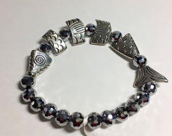 Greek worry fish bracelet