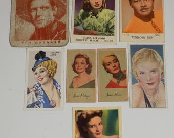 Collection of Cigarette Cards Film Star Movie Star MGM Carrera's Park Drive