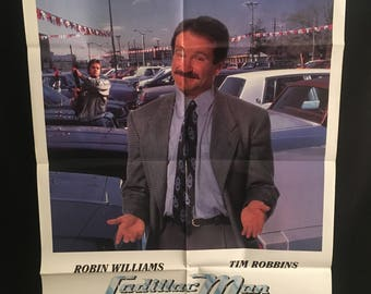 Original 1990 Cadillac Man One Sheet Movie Poster, Comedy, Robin Williams, Tim Robbins