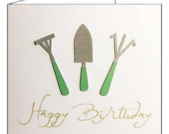 Happy Birthday Gardening Gardener Card 2018 Style