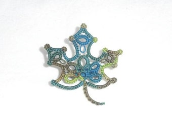 Lace Maple Leaf Brooch
