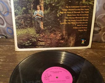 Im So Lonesome I Could Cry Country and Western Harmonica Vinyl Records LP  Mountain Dew Records