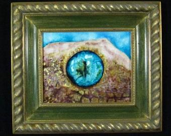 Eye 2- 10X8 Original Painting, Framed