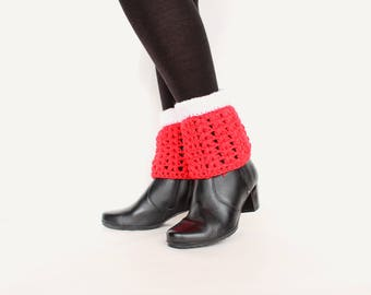 Knit boot cuffs Knitted leg warmers Spring outfit boot cuffs Red cuffs Spring gift girls gift Red leg warmers knit leg warmers knit