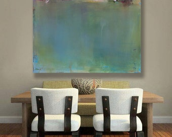 Pantone Greenery, Minimalist Abstract Landscape Canvas Print, Best Selling Item, Pantone 2017, Coastal Decor, New England, Wall Decor
