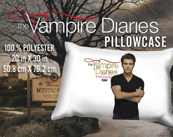The Vampire Diaries Stefan Salvatore Paul Wesley Pillowcase