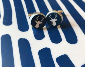 Buck Deer cabochon cufflinks - 16mm