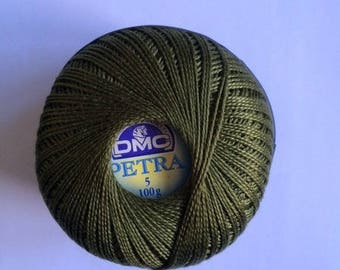 DMC Petra No. 5 - ball 100gr reference 53011 khaki Green