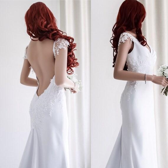 Einzigartige Strand Brautkleid Sexy rückenfreie