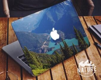 Blue Nature Macbook decal / Blue Macbook Air / Nature Laptop vinyl skin / Creative Macbook decal / Pristine Nature decal / NI042