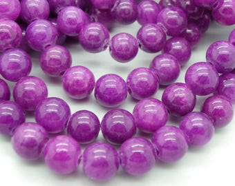 thin 8 mm stone of life purple 47 to 50 beads