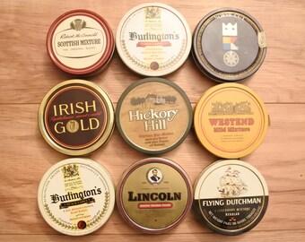Vintage 9x round Pipe Tobacco Tin